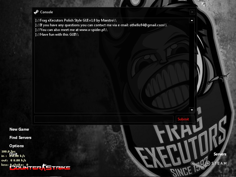 Frag eXecutors GUI v1.0 + Official configs screenshot