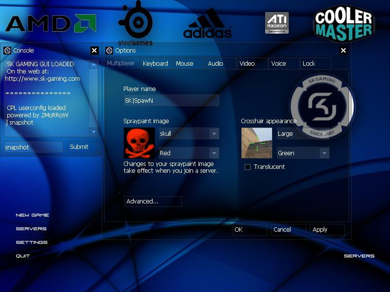 SK Gaming GUI by 2MoRRoW screenshot