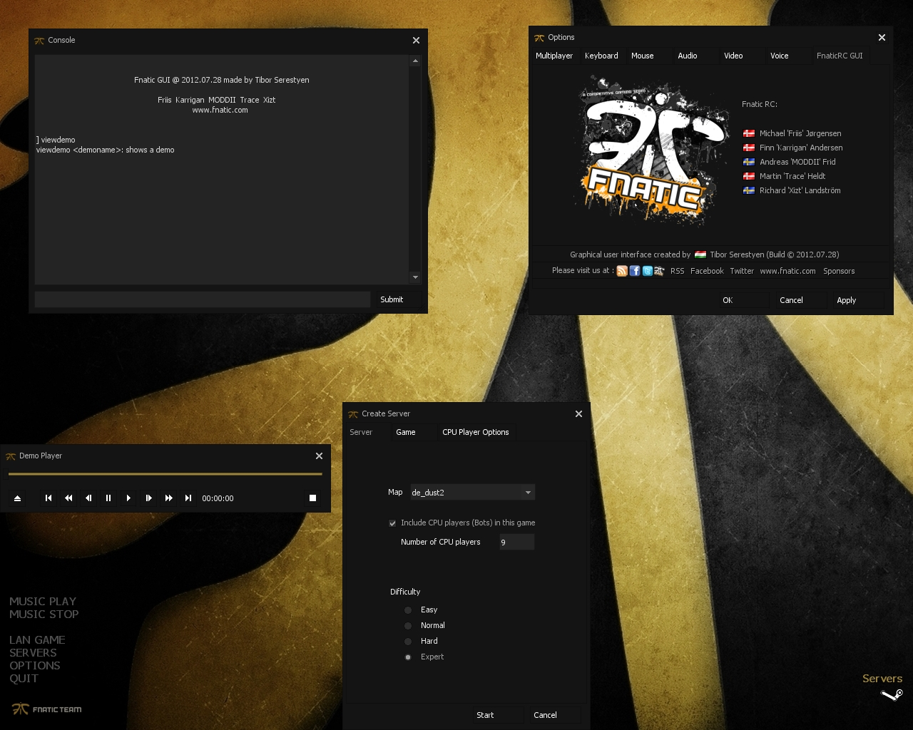 FnaticRC GUI 2012 screenshot