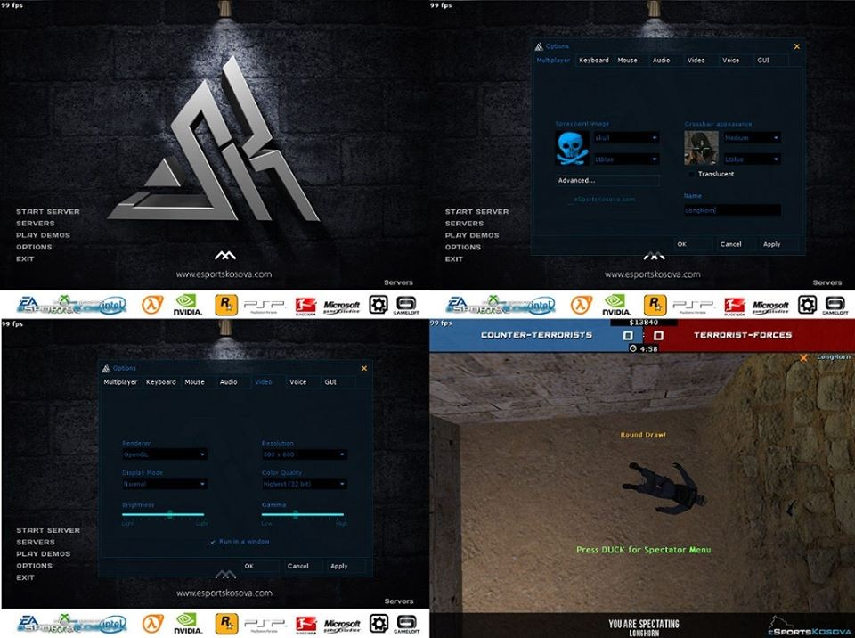 eSportsKosova GUI 2014/2015 screenshot