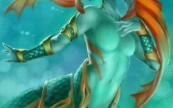 Naga Siren in water