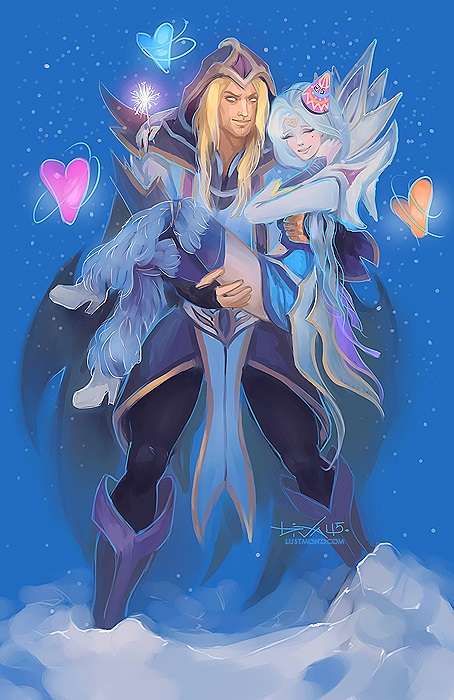 Invoker and Crystal Maiden by CurlyJul 454x700